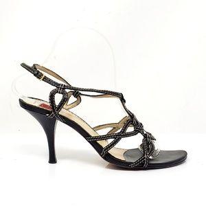 Oscar de la Renta Black Strappy Heels